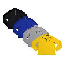 Polo Ralph Lauren Mens Sweatshirt Pullover Fleece 1/4 Zip Long Sleeve New Xs S