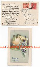 c1925 CZECHOSLOVAKIA Cover VINOHRADY KREMS DONAU AUSTRIA Easter Postcard SG193b