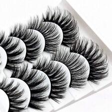5 Paar Eyelashes 3D Lashes Falsche Wimpern Künstliche Gefälschte Makeup DIY Neu