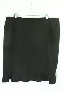 Courtenay Black Skirt Women's 16W A-Line ruffle knee length stretch career