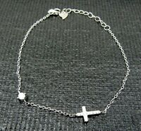 Pure 925 Sterling Silver Chain Extender with Heart Tag Lobster Clasp For Necklace 1pc