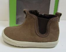 """Stride Rite Size 1 M Memory Foam Brown Leather Baby Boys Shoes Boots 3.5"""" Insole"""