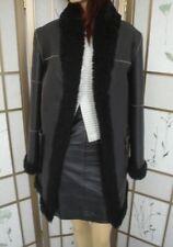 ~SHOWROOM NEW BLACK SHEEPSKIN LAMB FUR COAT JACKET WOMEN WOMAN SIZE 6 SMALL