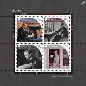 British Royal Family HOUSE OF WINDSOR Centenary Stamp Sheet (2017 Gibraltar)