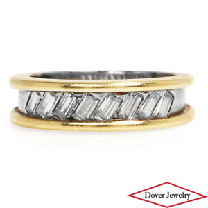 Estate Diamond 18K Gold Elegant Band Ring 8.5 Grams NR