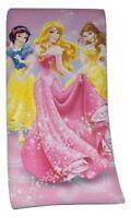 Disney Prinzess Badetuch/Strandtuch/Velourstuch 75x150cm rosa 100% Baumwolle