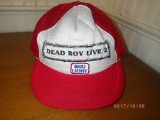 Vintage BUD LIGHT Beer Dead Roy Live 2 Concert Mesh Truckers Snapback Hat Cap
