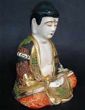 Beautiful Antique Japanese Satsuma Buddha Statue Japan Meiji Period ca. 1900