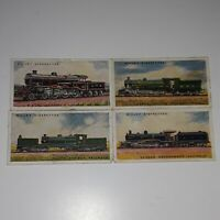 """Lot 4 Will's Cigarettes """"Railway Engines"""" Tobacco Cards Partial Set"""