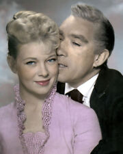 "ANTHONY QUINN DOLORES MICHAELS WARLOCK 1959 8X10"" HAND COLOR TINTED PHOTOGRAPH"