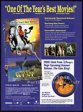 INTO THE WEST__Original 1994 Trade AD movie promo__GABRIEL BYRNE__ELLEN BARKIN