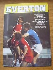 24/09/1980 Everton v West Bromwich Albion [Football League Cup] (Item has no app