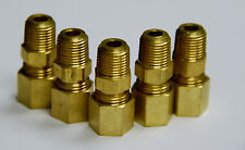 Brass Fitting Compression Male Connector Male Pipe Size 1/4, Tube OD 3/16 Qty 5