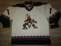 Sean Burke #1 Phoenix Coyotes NHL CCM Sewn Hockey Jersey XL