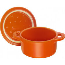Staub 40511-085-0 Ceramic Mini Round Cocotte, 0.25 quart, Orange