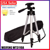 WEIFENG WT3110A Professional Flexible Aluminum Tripod Black 2021