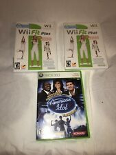 Video Game Lot Three Games Wii Fit Plus American Idol Encore Xbox 360
