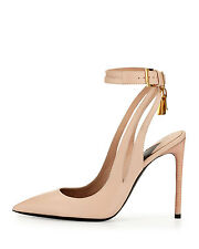 TOM FORD Leather Ankle-Lock 105mm Pump Original:$1190.00 Size - 39
