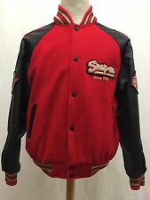 Vintage Choko Motorsports Snap-on Leather & Wool Varsity Letterman Jacket