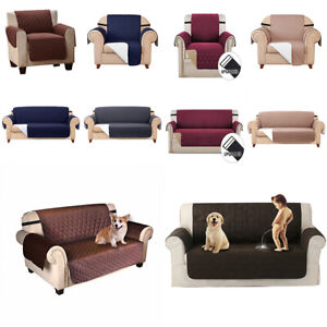 Reversible Slipcover Anti-Slip Couch Sofa Cover Kids Pet Furniture Protector