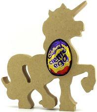Pack Of 10 - Unicorn MDF Egg Holder Easter wooden craft shape Creme Egg