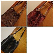 Elie Tahari Tinsley Python Print Convertible Leather Shoulder Bag Crossbody