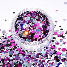 79,50€/100g Glitter Mix Glitzer Pulver Pailletten DOTS 2g basteln rund NEU