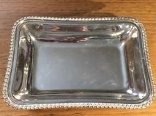 Small, Heavy, well-made, rectangular silverplated serving dish made in England