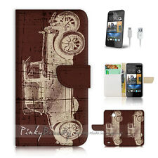 ( For HTC Desire 310 ) Case Cover! P0585 Old Car