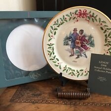 Lenox Annual Holiday Christmas Plate 1998 Holiday Skaters, Eighth in Series