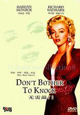 Don't Bother to Knock (1952) - Marilyn Monroe, Richard Widmark - DVD NEW