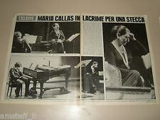 MARIA CALLAS clipping ritaglio articolo foto fotografia 1976 LACRIME STECCA