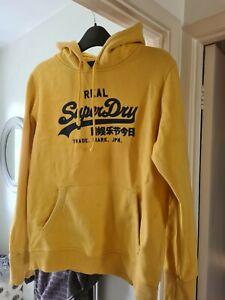Superdry Ladies Yellow Hoodie Size XL