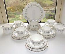 Minton English Fine Bone China Alpine Spring 21 Piece Cups Saucers Milk Sugar