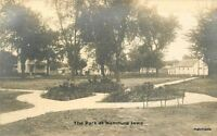 C-1910 Park Hamburg Iowa RPPC real photo postcard 7173