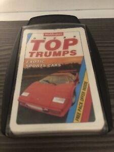 SUPER TOP TRUMPS EXOTIC SPORTS CARS - WADDINGTONS 1992 (COMPLETE) (FREE P&P)