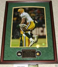 GREEN BAY PACKER BRETT FAVRE 4 DONALD DRIVER AUTOGRAPHED FRAMED 16x20 PHOTO HOLO