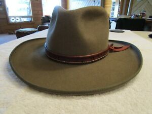 Tatton Baird Custom Pure Beaver Cowboy Hat 7 1/4 Pecan Great Condition