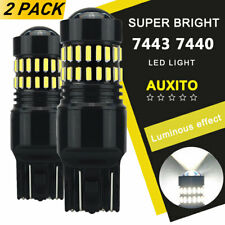 Auxito 2X 7443 7440 T20 Led Xenon White Back Up Reverse Lights Bulb 48W 2400Lm A