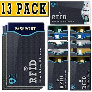 13 PACK RFID Blocking Credit Card / Passport Holder Case Safety Sleeve Protector