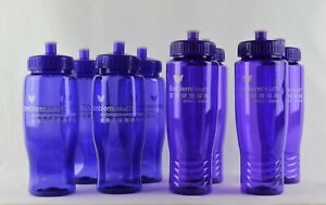 Pack Of 4 Rubbermaid 20 Oz Sports Bottle Citrus Lines Design Blue Cross Design