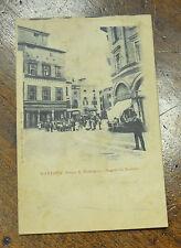 CARTOLINA MANTOVA PIAZZA MANTEGNA VIAGGIATA 1909 SUBALPINA ZZ