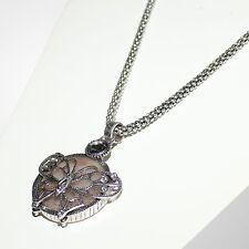 Kurze Halskette Collier Damen Kette Modeschmuck Anhänger Schmetterling Silber