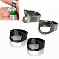 25 100pc Ring Beer Bottle Opener Stainless Steel Metal Finger Thumb Keyring Tool