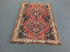 "On Sale Beautiful Hand Knotted Persian Shiraz Red Tribal Rug Carpet 3'6""x5'1"""