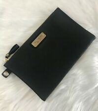 Victoria's Secret Black Leather-Effect Pouch / Purse / Makeup Bag - UK SELLER