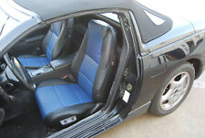 IGGEE S.LEATHER CUSTOM FIT SEAT COVER FOR 1990-1995 NISSAN 240SX