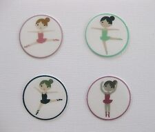12 PRE CUT BALLERINA EDIBLE RICE PAPER WAFER CARD BIRTHDAY CUPCAKE TOPPERS