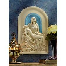 "The Pieta Lunette Design Toscano Exclusive 11"" Hand Painted Wall Sculpture"