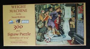 "New unopened SunsOut 300 pc.puzzle ""Weight Machine"" by Susan Brabeau 21"" X 24"""